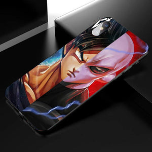 Dragon Ball Goku&jiren Anime Phone Case-Tempered Glass Cover