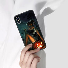 Load image into Gallery viewer, Halloween Anime Phone Case 02-Tempered Glass Cover