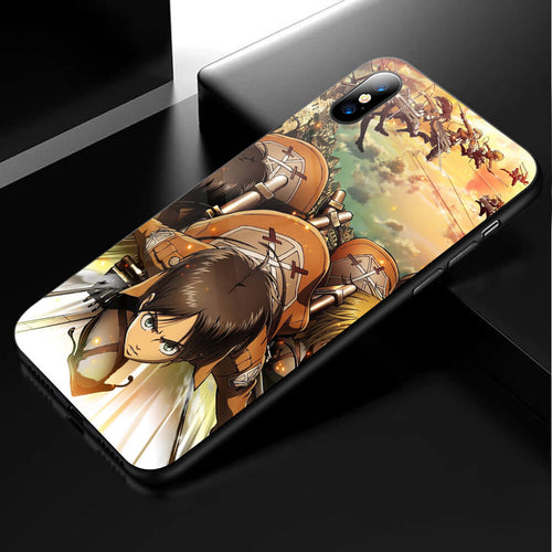 Attack On Titan Anime Phone Case 1-Tempered Glass Cover