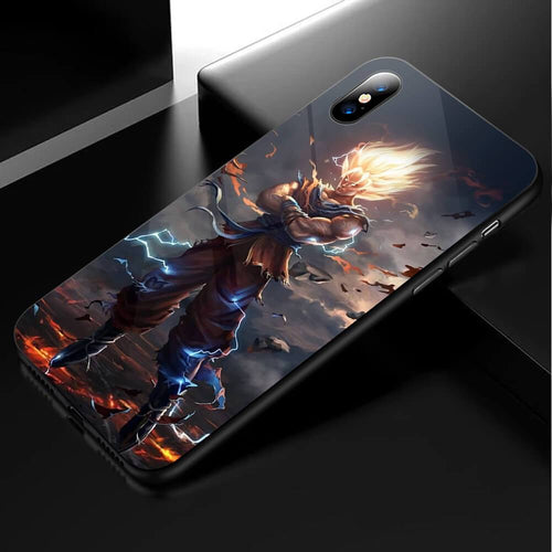 Dragon Ball Z Son Goku Anime Phone Case-Tempered Glass Cover