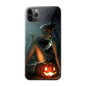 Halloween Anime Phone Case 02-Tempered Glass Cover