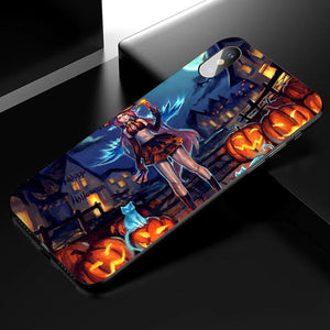 Halloween Anime Phone Case 01 -Tempered Glass Cover