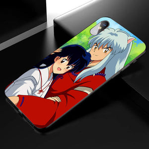Inuyasha&Kagome Anime Phone Case-Tempered Glass Cover