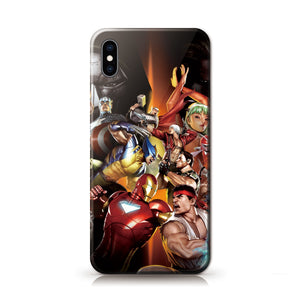 Marvel VS Capcom Anime Phone Case-Tempered Glass Cover