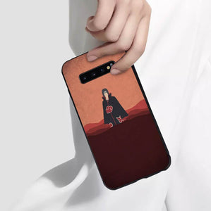 Naruto Itachi Anime Phone Case-Tempered Glass Cover