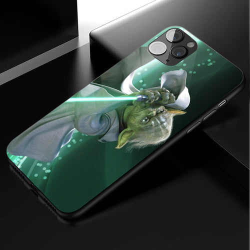 Star Wars Baby Yoda Anime Phone Case 1-Tempered Glass Cover (iPhone Case&Samsung Case)