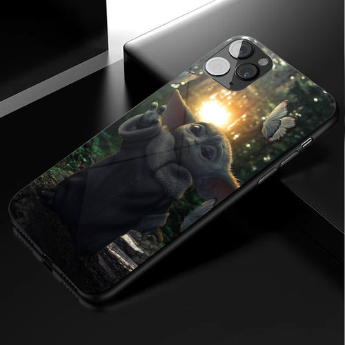 Star Wars Baby Yoda Anime Phone Case 4-Tempered Glass Cover (iPhone Case&Samsung Case)