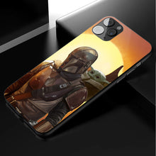 Load image into Gallery viewer, Star Wars Mandalorian & Baby Yoda- Anime Phone Case-Tempered Glass Cover (iPhone Case&Samsung Case)