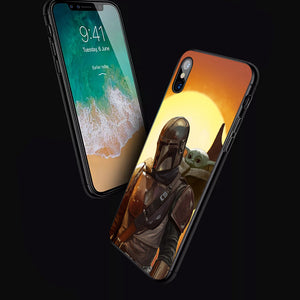 Star Wars Mandalorian & Baby Yoda- Anime Phone Case-Tempered Glass Cover (iPhone Case&Samsung Case)