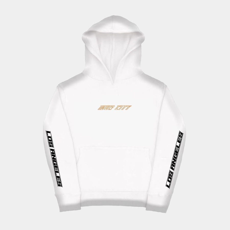 WHITE PRE LOS ANGELES HOODIE (light weight)
