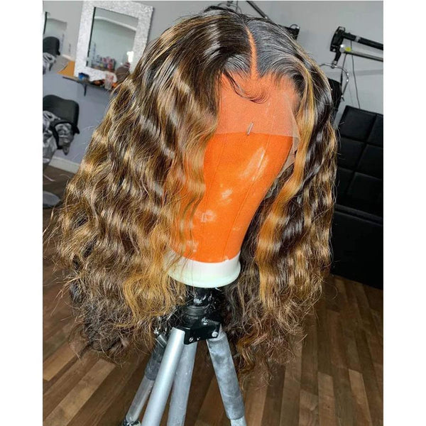 Lace Front Human Hair Wig Curly Brazilian Non-Remy Hair13 * 4 Lace Wig With Baby Hair Middle Ratio 150% Density