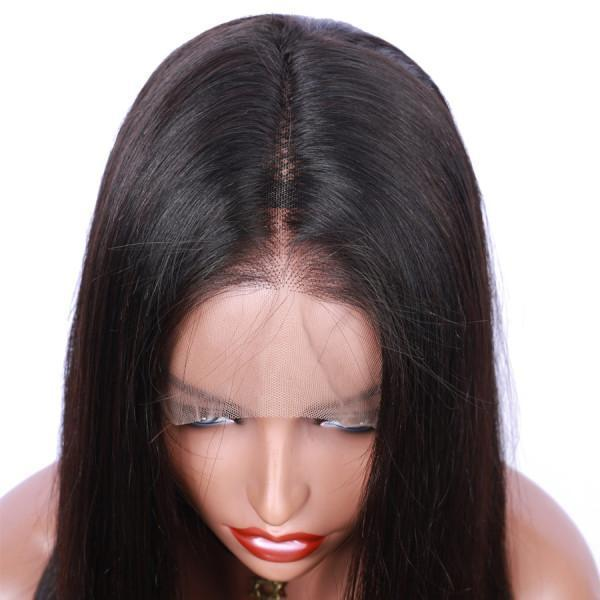 200% Density Brazilian Straight 360 Lace Frontal Wig Pre Plucked