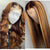 140% Human Hair Wave/Straight Wigs Brown Color