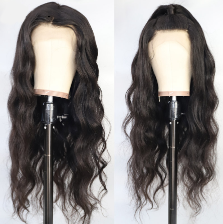 Lace Front Human Hair Wigs Pre Plucked Hairline Brazilian Body Wave Lace Frontal Wig Non-Remy Human Hair Wigs
