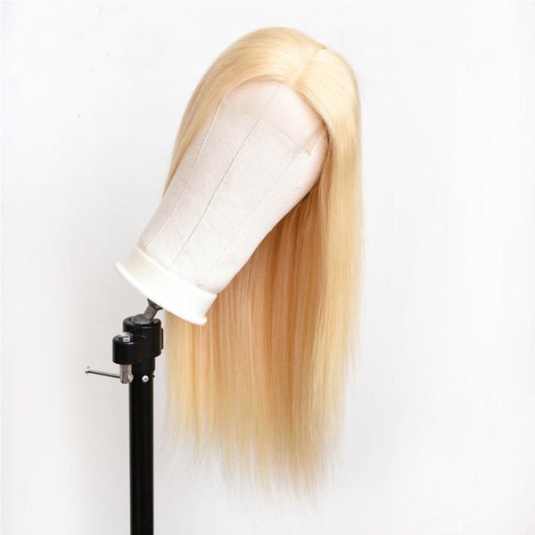 Blonde Silky Straight Lace  Human Hair Wig