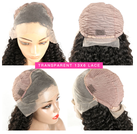 Peruvian Curly Human Hair Wig Lace Front Wigs For Black Women Sunlight Remy Pre Plucked Lace Wigs