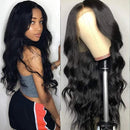 Brazilian big wave body front lace wig with baby hair