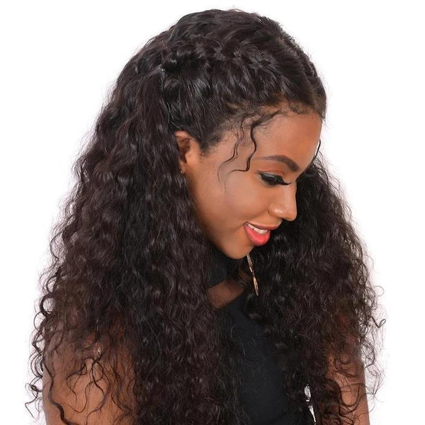 Deep Wave Wig 360 Lace Frontal Wig Pre Plucked With Baby Hair Remy Human Hair Wigs For Black Women Brazilian Lace Front Wigs