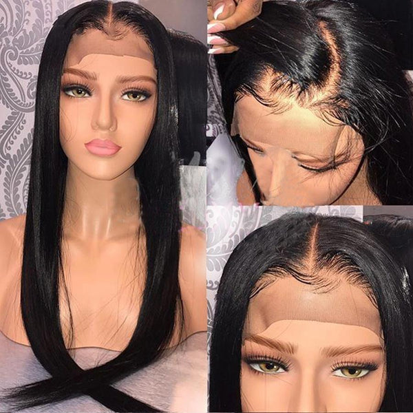 Front Lace Wig Straight With Natural Hair Line