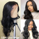 Body Wave Wigs Peruvian Hair Pre Plucked Lace Front Human Hair Wigs For Black Women Natural Color Lace Wigs Remy Hair
