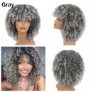 Curly Brown Blonde Gray Color Wigs For Black Women