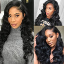 360 Lace Closure Wigs Pre Plucked With Baby Hair Remy Lace Closure Human Hair Wigs For Black Women