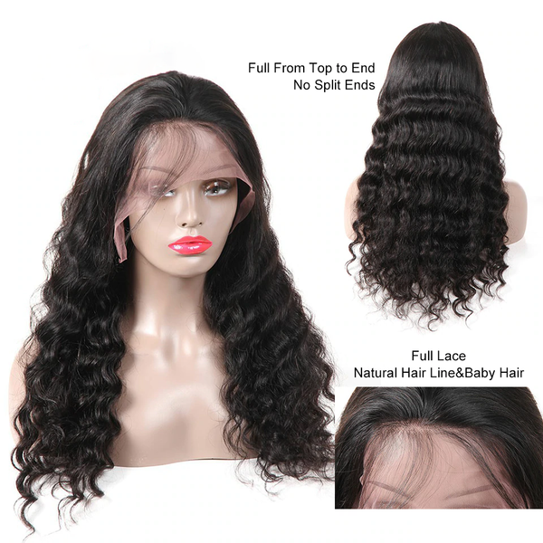 Lace Front Human Hair Wigs For Women 360 Lace Frontal Wig Pre Plucked With Baby Hair Brazilian Body Wave Lace Wig