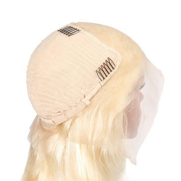 Blonde Lace Front Wig With Baby Hair For Black Women Brazilian Body Wave Human Hair Wigs