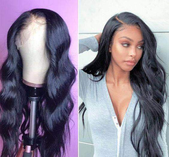 Human Virgin Hair Black Wave Pre Plucked Lace Front Wig And Full Lace Wig For Black Woman