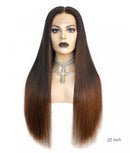 Luxury Long Hair Wig Ombre Color