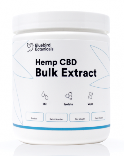 Bluebird provides bulk hemp extracts and wholesale CBD oil to qualified researchers and companies.