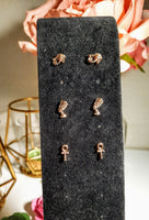 3 Pair Stud Earrings