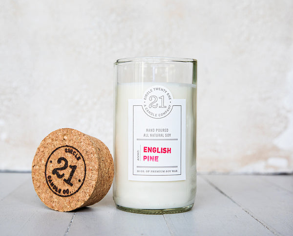 Circle 21 English Pine Scented Soy Candle