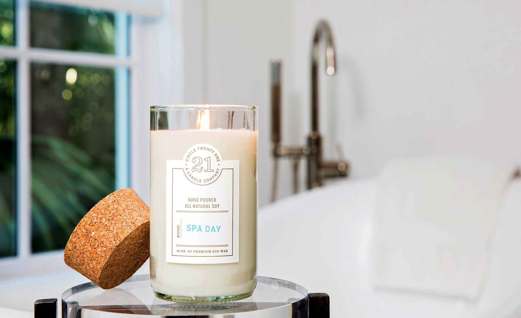 Spa Day Scented Soy Candle