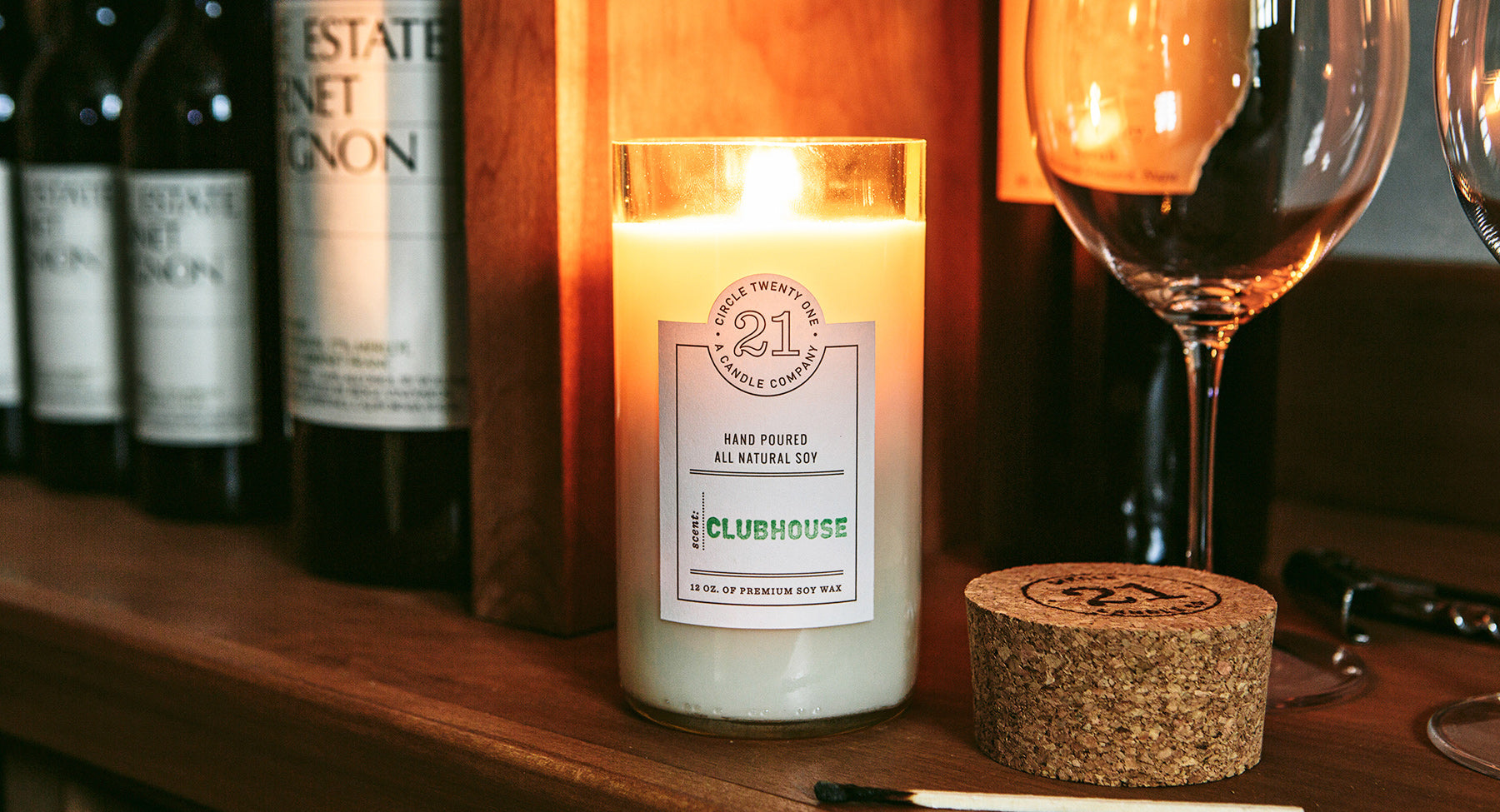 Circle 21 Clubhouse Scented Soy Candle