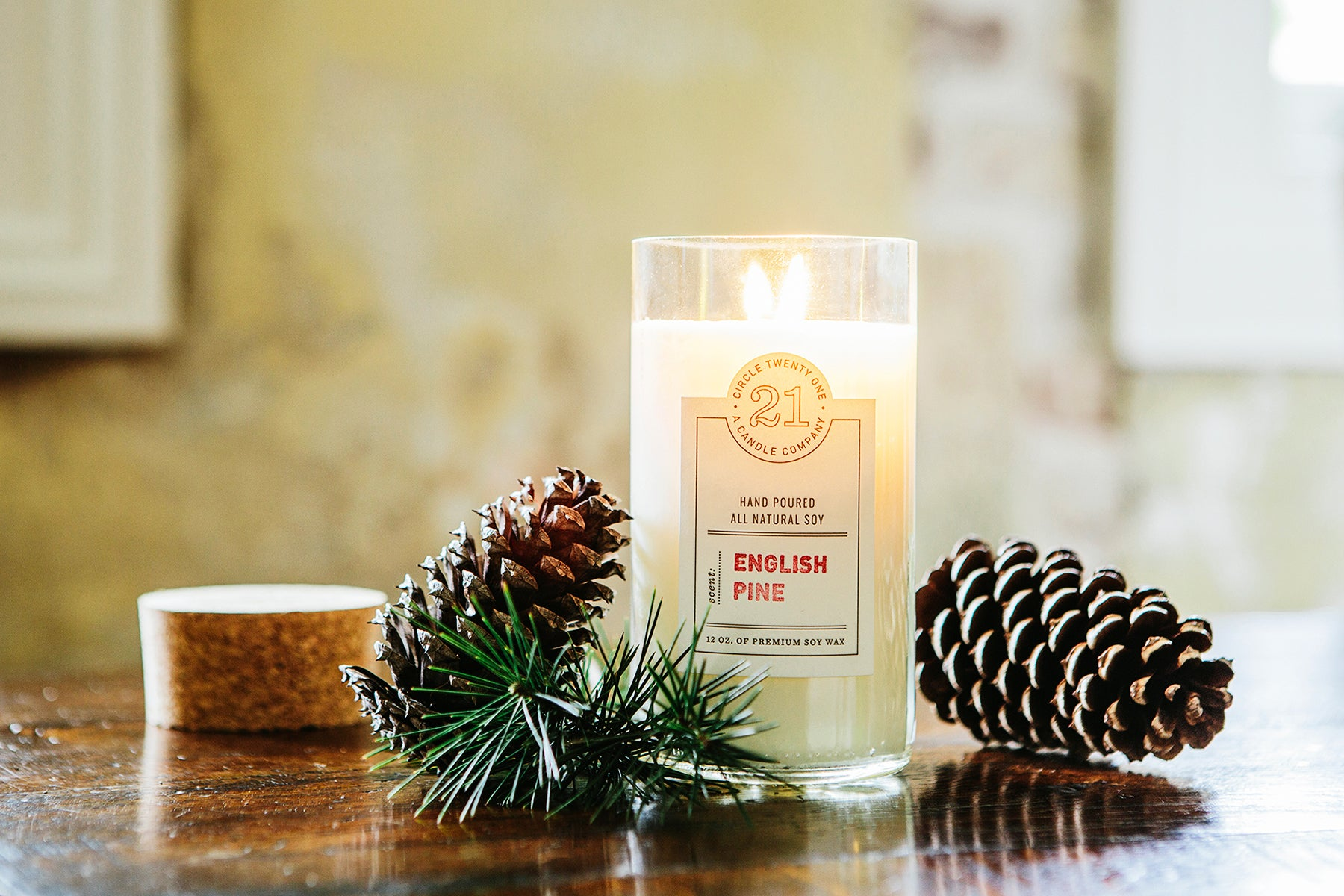 English Pine Scented Soy Candle