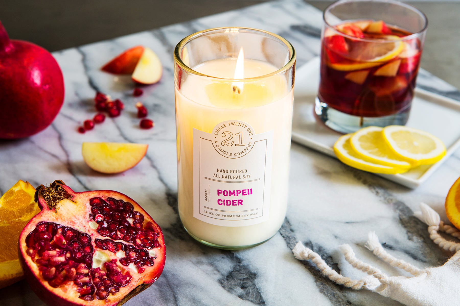 Pompeii Cider Scented Soy Candle