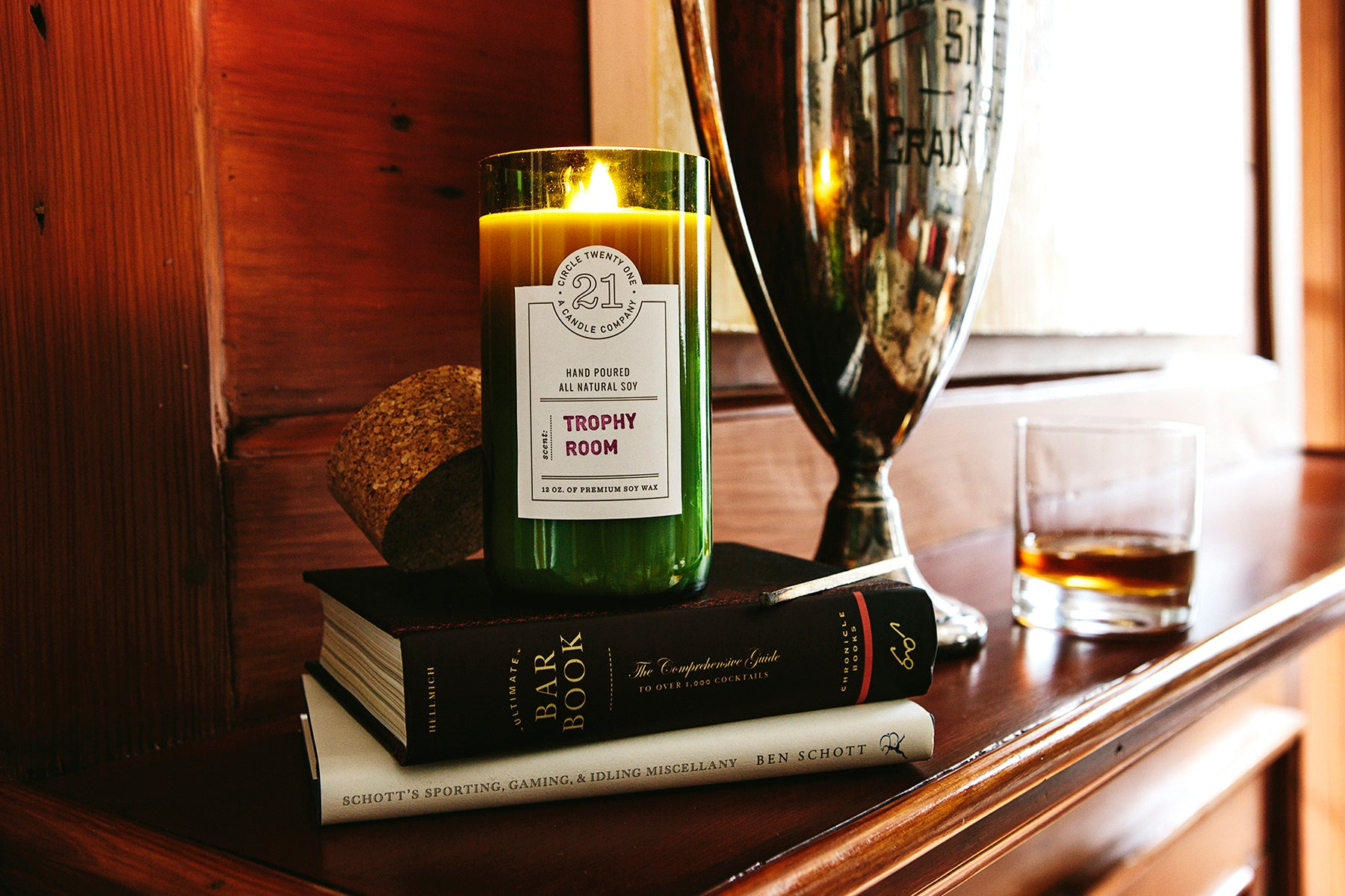 Trophy Room Scented Soy Candle