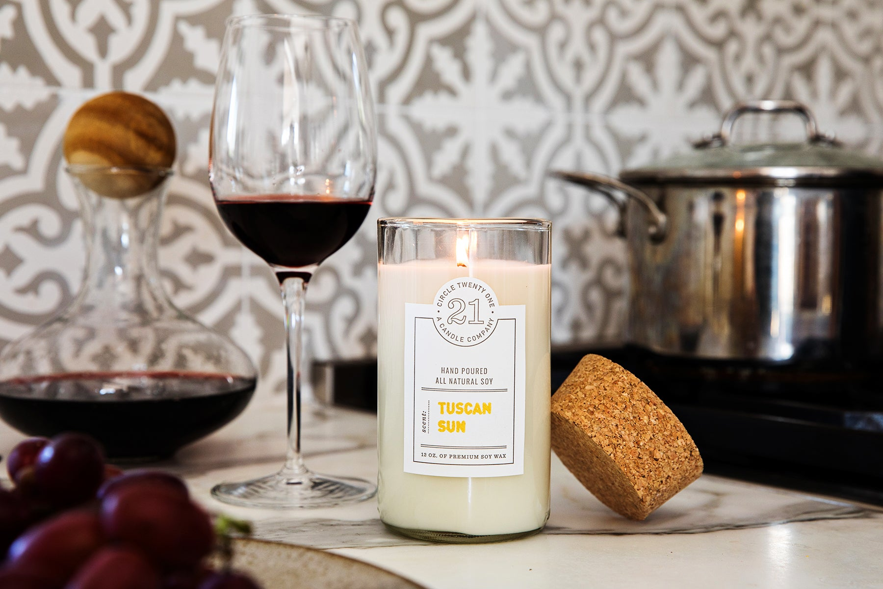 Tuscan Sun Scented Soy Candle