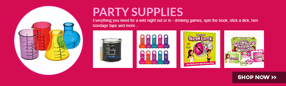 Everything you need for a wild night out or in - drinking games, spin the book, stick a dick, hen bondage tape and more...