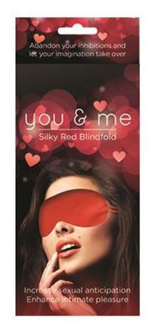 You & Me Red Satin Blindfold