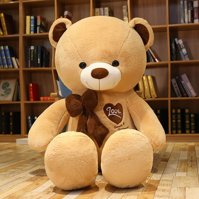 4 colors large love bear
