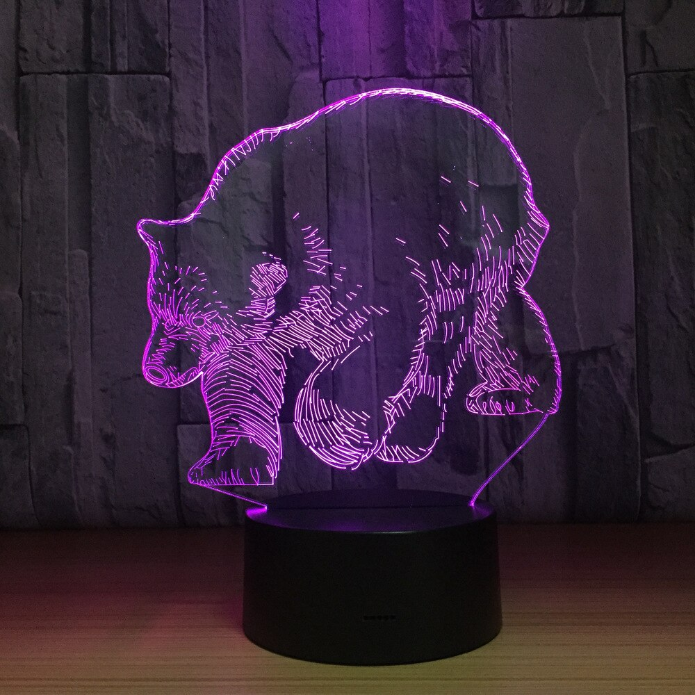 Polar Bear 3D LED Lamp