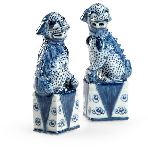 Foo Dogs - Azul y Blanco