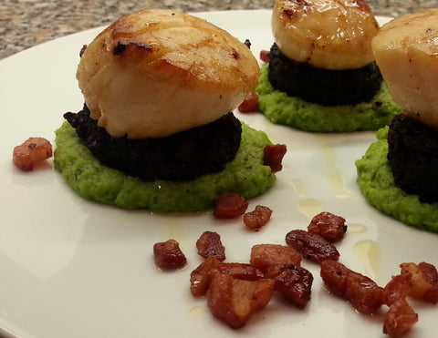 st jacques et black pudding