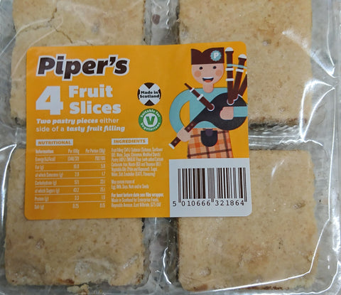 Piper's Fruit Slices - 150grs