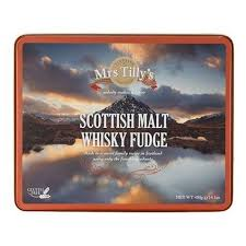 Mrs Tilly's Scottish Malt Whisky Fudge - 400grs