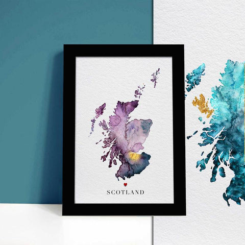 Ejay Design - Carte d'Ecosse personnalisable
