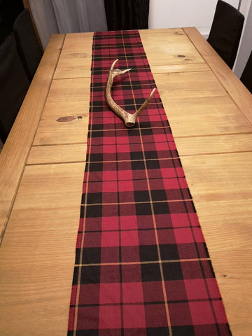 Chemin de table en tartan Wallace
