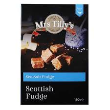 Mrs Tilly's Sea Salt Scottish Fudge - 150grs